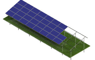 Screw Pile Solar Panel Ground Mounting Systems Wide Application