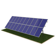 Steel Pile Solar Panel Ground Mounting Systems Rapid Installation 20M Max Building Height