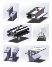 China Thin Film Frameless Solar Panel Clamps Semi Flexible Mounting Brackets Anodized Surface factory