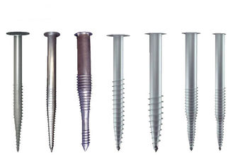 China Metal Ground Screw Piles Steel Anchor Helical Length 1000~3500mm Anticorrosive factory