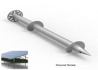 Steel Foundation Ground Screw Piles Solar Arrays PV Racking Ground Mounts