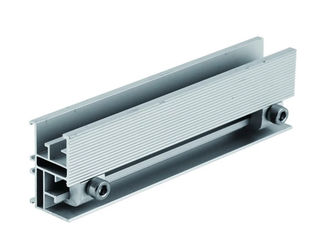 China Adjustable Extruded Aluminum Rail , Solar Panel Mounting System Aluminium Profile Rail factory