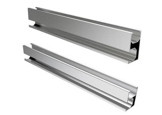 China Silver Aluminum Slotted Rail For Solar Energy System Roof Ground Project factory