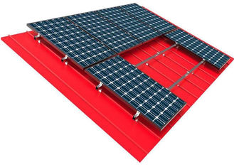 China 10kw Solar Panel Roof Mounting Systems Pitched Corrugated Trapezoidal Standing Seam PV Structure factory