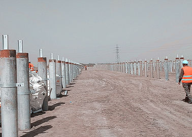 China Solar Panel Galvanised Channel Sections , C U Hot Rolled Structural Steel Beams factory