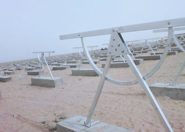 Adjustable Tilt Solar Panel Rail Mounting System , PV Solar Mounting Systems