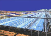 Linear Fresnel Solar Heating System HDG Steel Mounting Frames Customized Color
