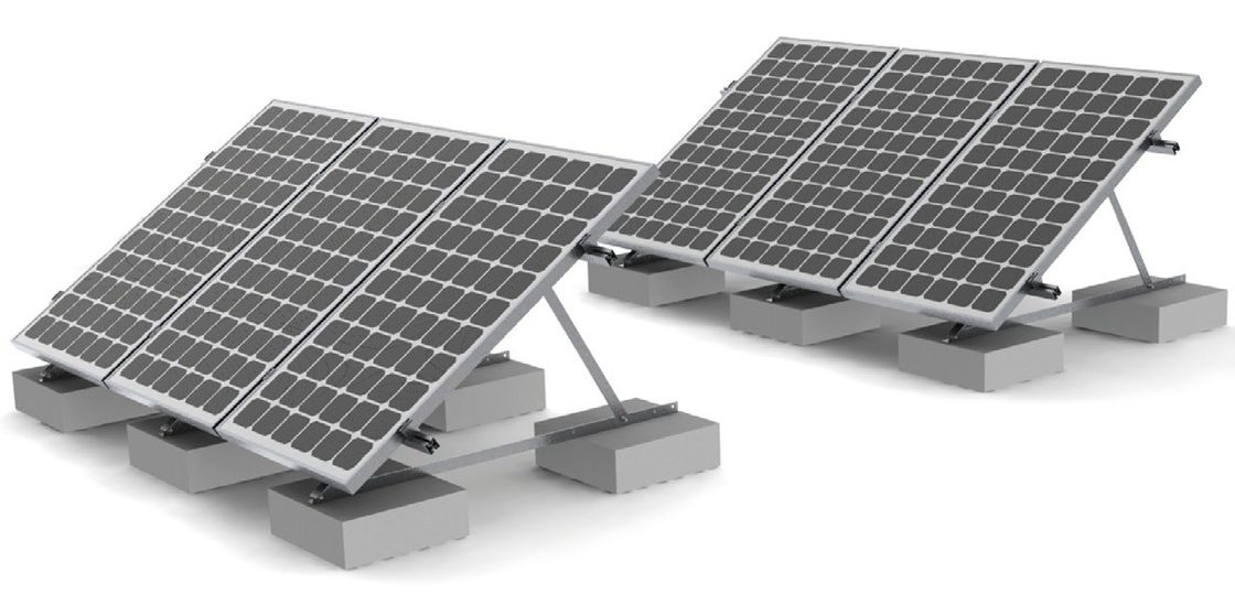 Rooftop Solar Panel Roof Mounting Systems Concrete Ballast
