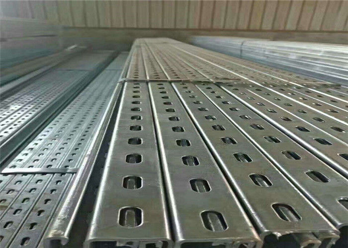 Photovoltaic Solar Stent Solar Panel Mounting Brackets , Pipe Standard Metal Profiles