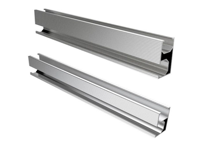 Silver Aluminum Slotted Rail For Solar Energy System Roof Ground Project supplier