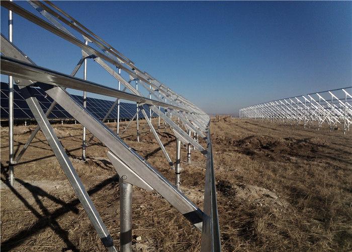 1 4KN/M2 Ground Mount Solar Racking Systems , Framed Solar Power Energy  System