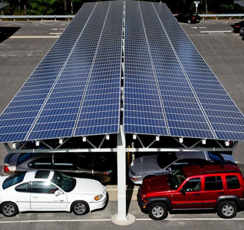 60kw Carport Solar Systems Ground Mounting For Car Port Parking Frameless Panel supplier