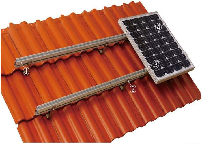 60m / S Wind Load Tile Solar Panel Roof Mounting Systems Aluminum Alloy / Stainless Steel supplier