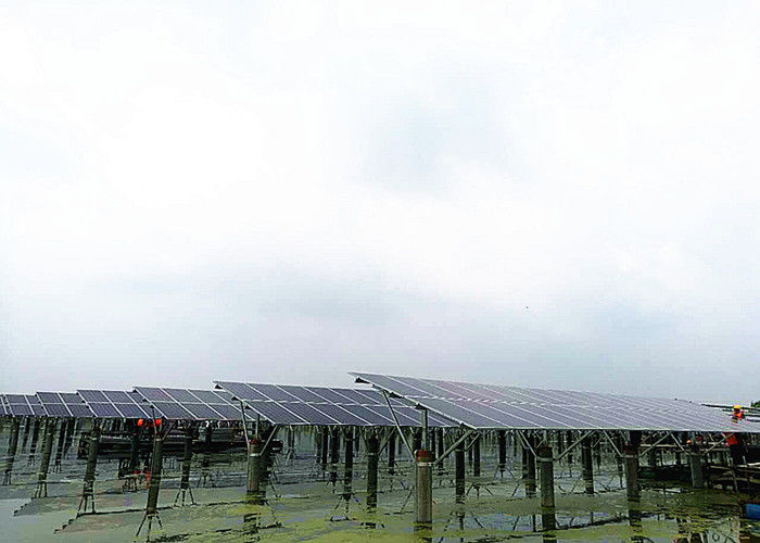 Fishing - Light Complementary Solar Panel Ground Mounting Systems For Fish Farm supplier