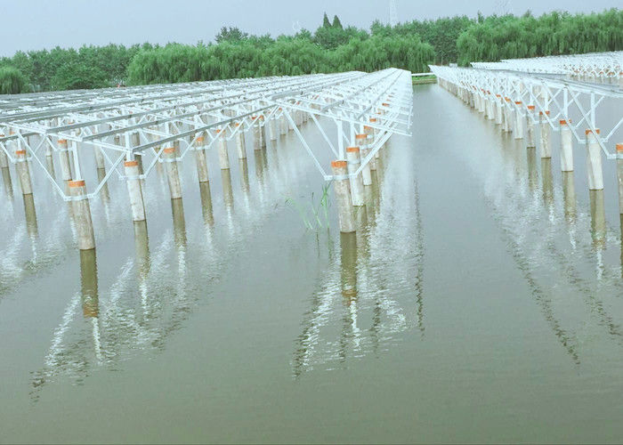 Tidal Flat Type Customized Solar Panel Ground Mounting Systems Hot Dip Galvanizing supplier
