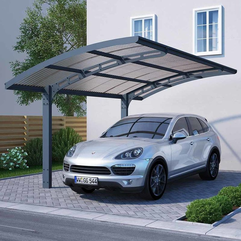 Carbon Steel Carport Solar Systems Aluminum PV Mounting Structures Commercial Waterproof Car Shed