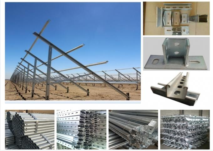 Pre Galvanized Steel Profile ERW Welded Cold Rolled Steel Pipe Solar Structures