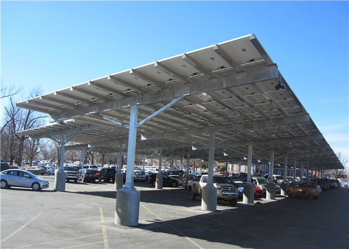 Customized PV Carport Solar Systems Mounting Bracket Open Ground Anti - Corrosion